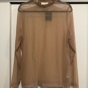 Nude Mesh Long-sleeve